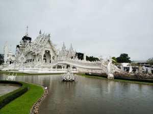 Templo blanco. Tailandia.