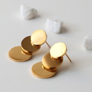 pendientes redondas dorados