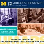 2019 University of Michigan African Presidential Scholars Program in USA -Guideline