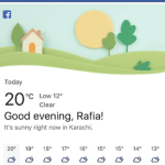 Facebook Weather App – How to Set up and Use Facebook Weather App