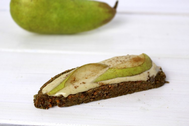 almond butter pear