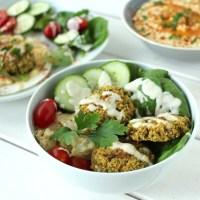 Falafel gebacken Salat gesund