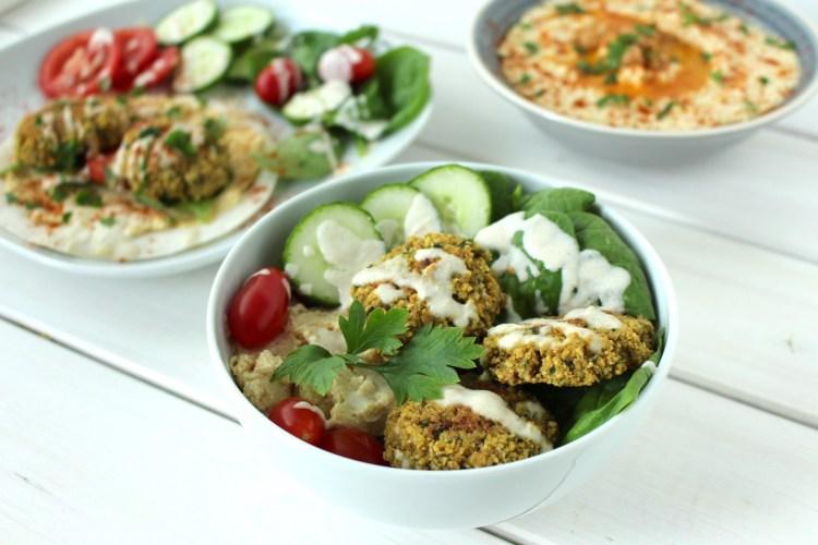 baked falafel salad healthy