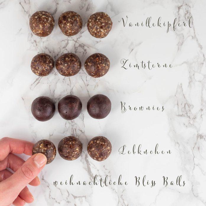 veganes Weihnachtskochbuch Bliss Balls Energy Balls vegan