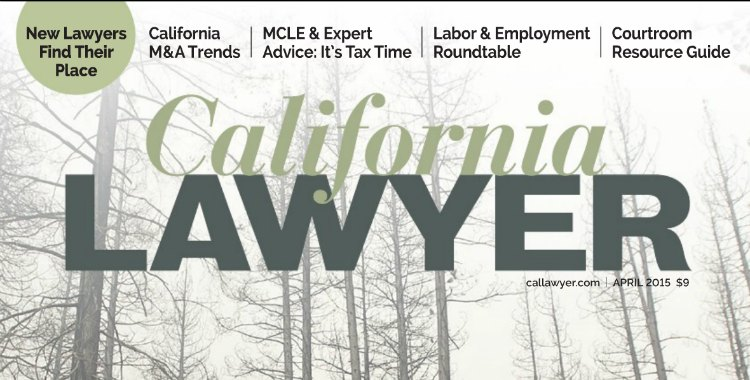 Jack W. Lee in California Lawyer Magazine