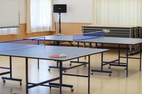 卓球も出来ちゃう多目的室・広い多目的ホールもありました!