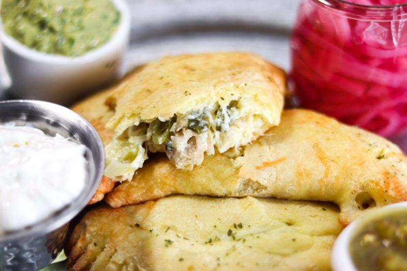 Chile Verde Chicken Empanadas Recipe | #keto #lowcarb | mincerepublic.com