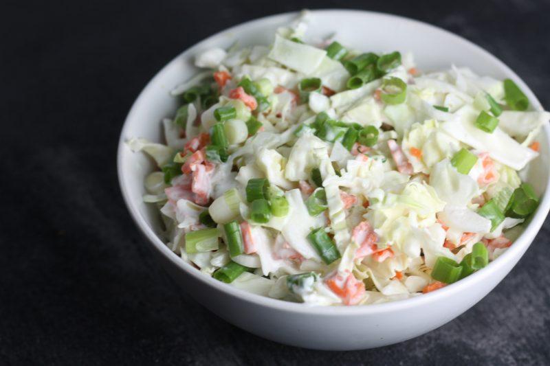Creamy Mexican Cabbage Slaw recipe | #keto #lowcarb | mincerepublic.com