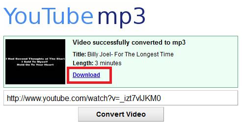 klik download untuk memulai mendownload mp3