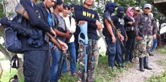 Heavily armed forces of the Bangsamoro Islamic Freedom Fighters (BIFF) somewhere in Maguindanao in this file photo taken July 22, 2011. The group formed by renegade Moro rebel leader Amerial Umra Kato may be facing military operatons now that the MILF is about to declare that Kato is no longer officially a part of MILF. MindaNews photo by Ferdinandh B. Cabrera