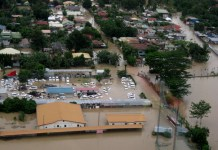 Aerial photo shows the flooded area near Gem Village in Brgy. Maa, Davao City on Sunday, January 20. Photo Courtesy of Bong Go / Office of the Vice Mayor