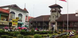 The Philippine flag flies at half mast outside the Zamboanga City Hall on Monday, Sept. 30, in honor of the policemen, soldiers and civilians who died during the standoff with the Moro National Liberation Front Misuari faction. Monday's flag-raising at City Hall was the first since the standoff that lasted over two weeks and displaced over 100,000 residents. Photo courtesy of MinHRAC