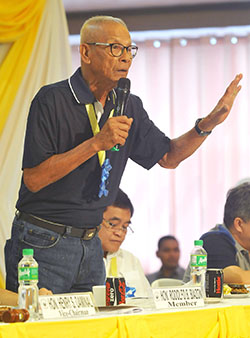 CONSTITUTIONAL SCRUTINY. Rep. Rodolfo Biazon (lone district, Mandaluyong City) says the proposed Bangsamoro Basic Law should pass scrutiny on its constitutionality to prevent a repetition of the war that broke out in 2008 after the Supreme Court junked the Memorandum of Agreement on Ancestral Domain. MindaNews photo by Froilan Gallardo