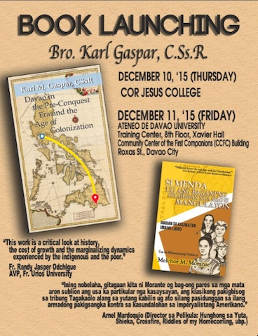 2 books on Davao history launched Dec  10 and 11 | MindaNews