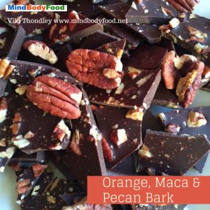 Orange, Maca & Pecan Bark