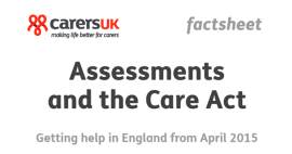 Assessments and the Care Act