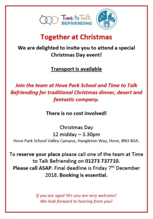 Together at Christmas Poster 2018 | Mind Brighton and Hove