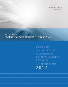 Kauffman Junior Faculty Fellowships
