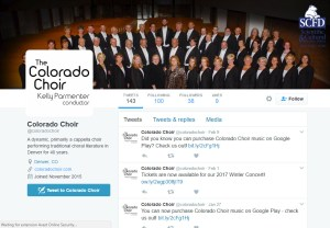 Colorado Choir Twitter profile