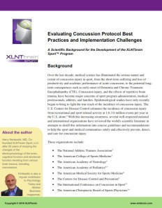 Evaluating Concussion Protocol Best Practices and Implementation Changes