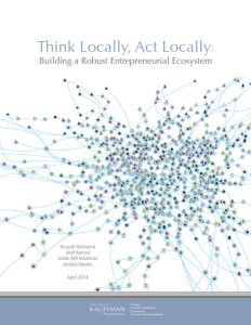 Think Locally, Act Locally: Building a Robust Entrepreneurial Ecosystem