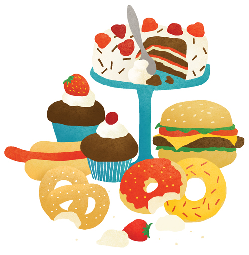 illustration of pile of sweets