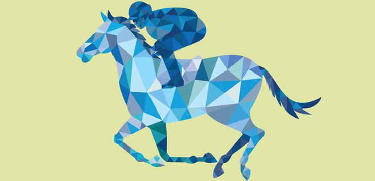 horse racer illustration