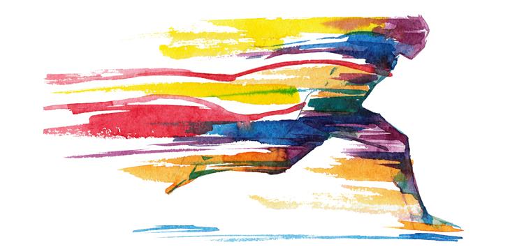 illustration person running