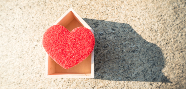 heart in a house