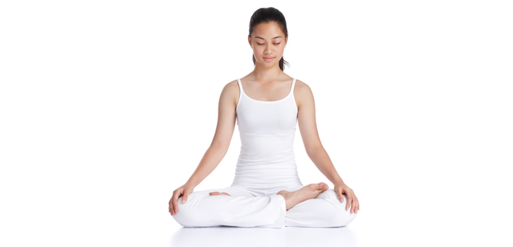 woman in seated meditation pose