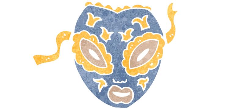 illustration of decorated mask