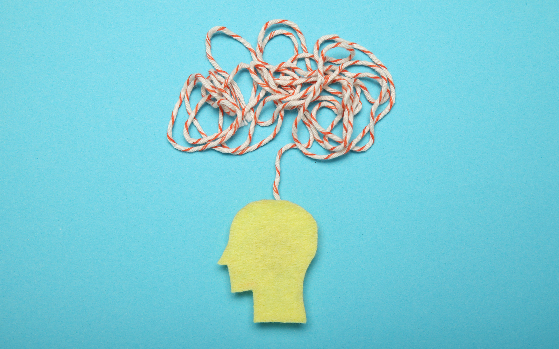 7 Ways to Ease Your Anxious Mind - Confused memory, remember mind. Puzzled chaos. Person amnesia. Anxious thoughts