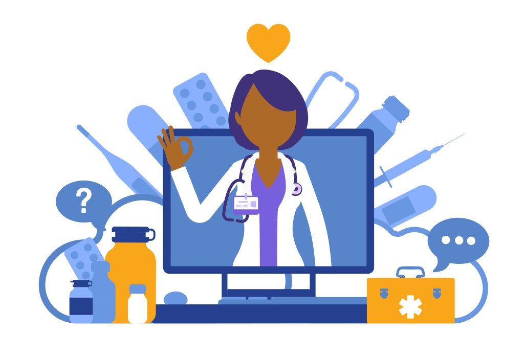 Mindfulness for healthcare workers- Illustration of a physician fighting for health equity