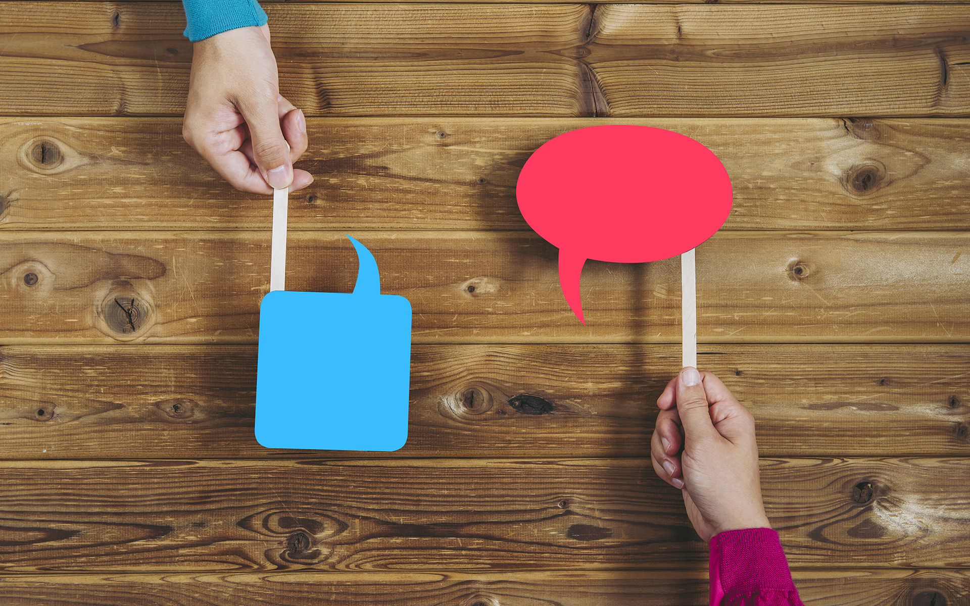 Being Mindful and Compassionate in Tough Conversations - Two conversations bubbles