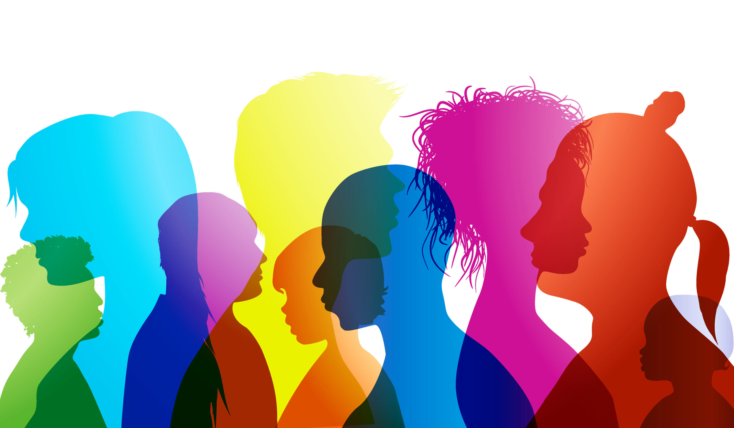 3 Ways Ending Bias Would Benefit Everyone_colorful layered silhouettes of different people