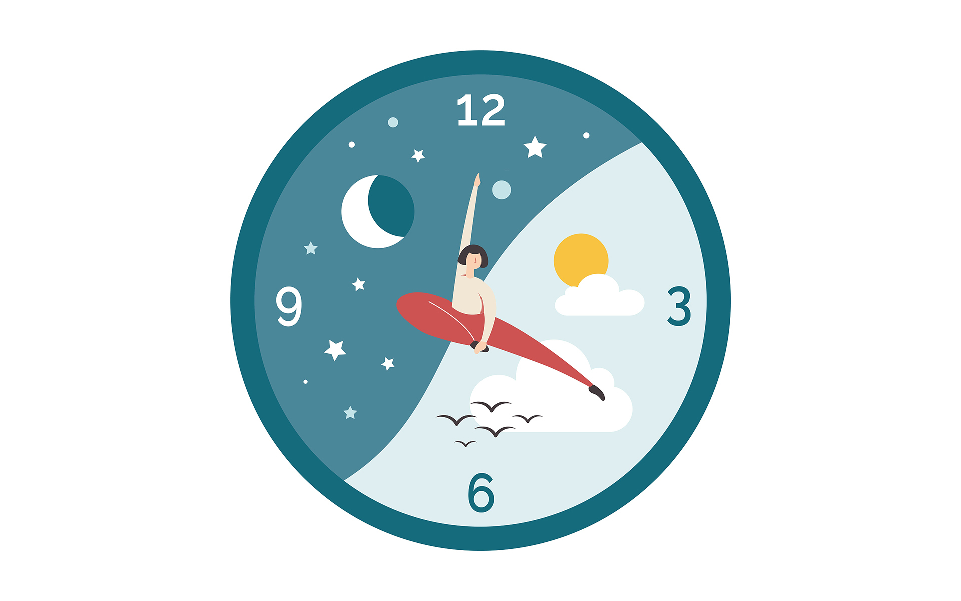 Mindful readers talk about the importance of everyday rituals - a clock with a woman on it pointing to daily habits