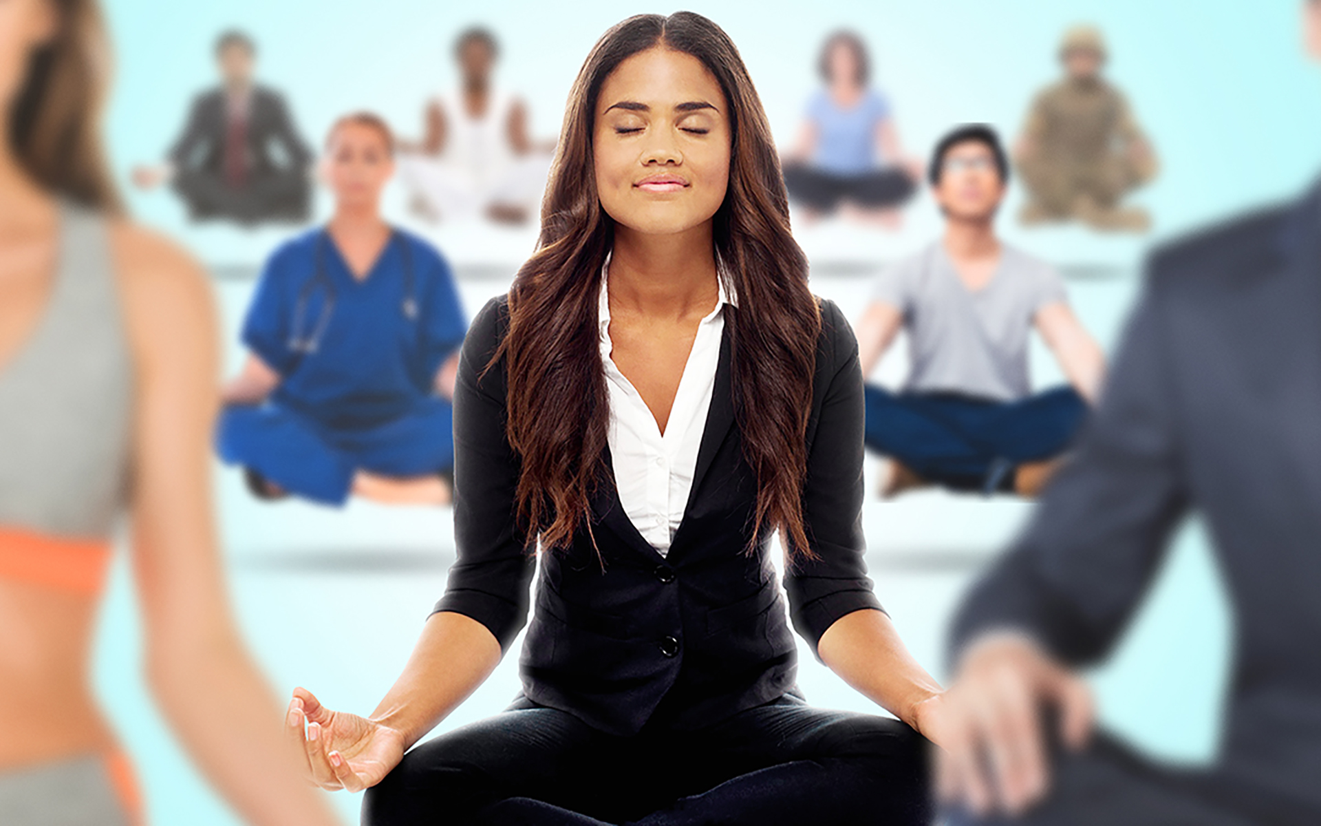 The Mindfulness Movement documentary film - People seated in meditation