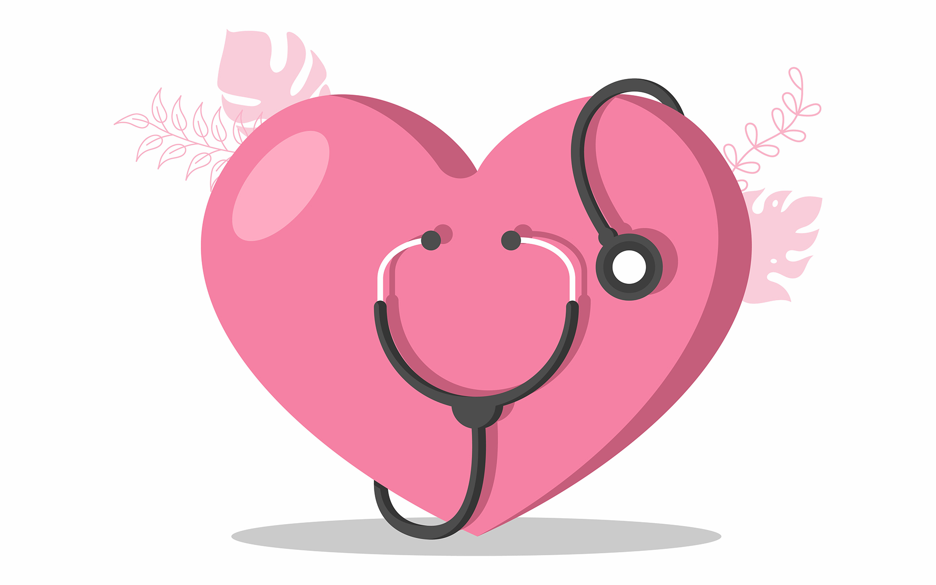 A Compassion practice for healthcare workers - Healthcare and Medical Equipment Icons in Form of Heart Illustration