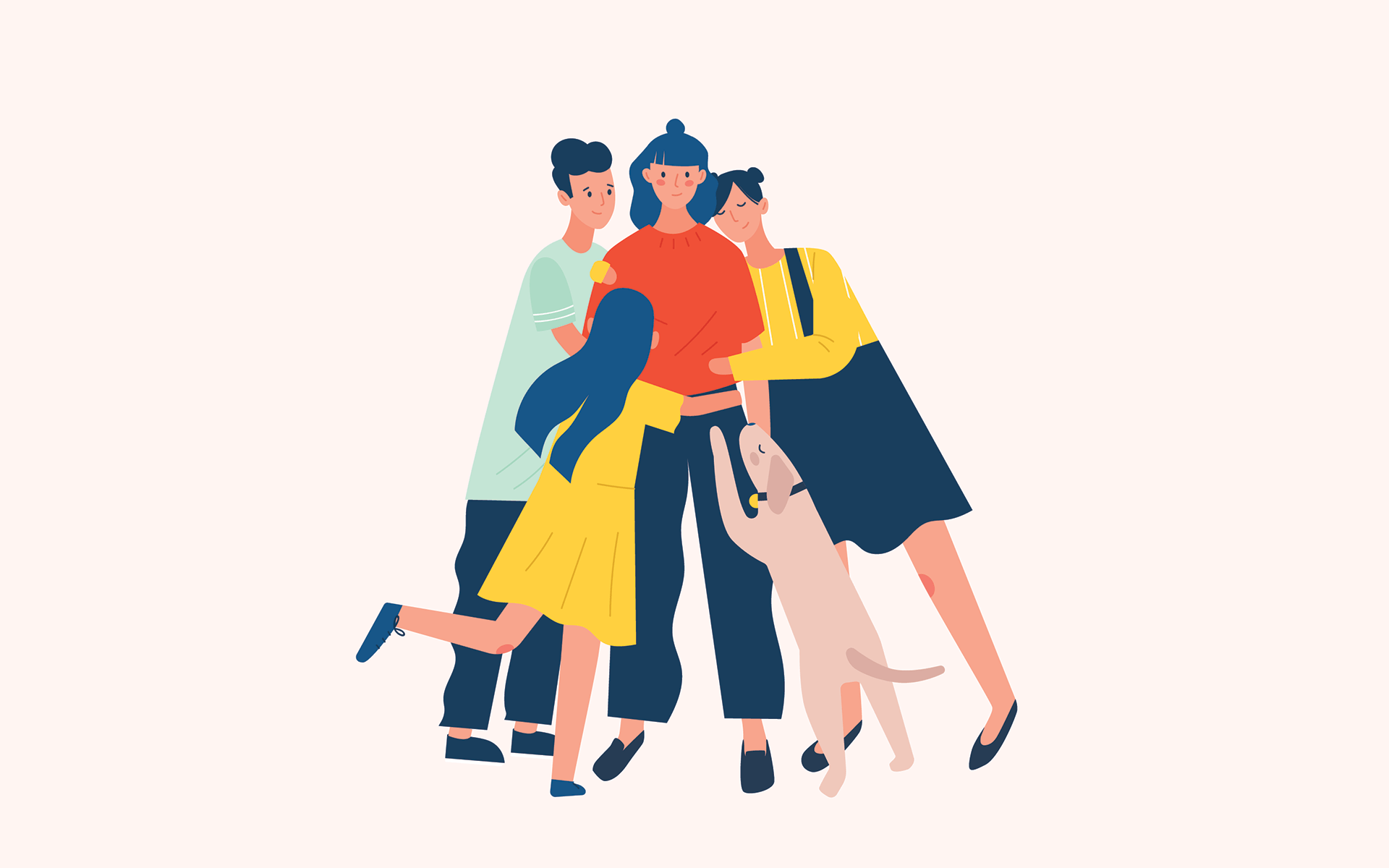 woman with family