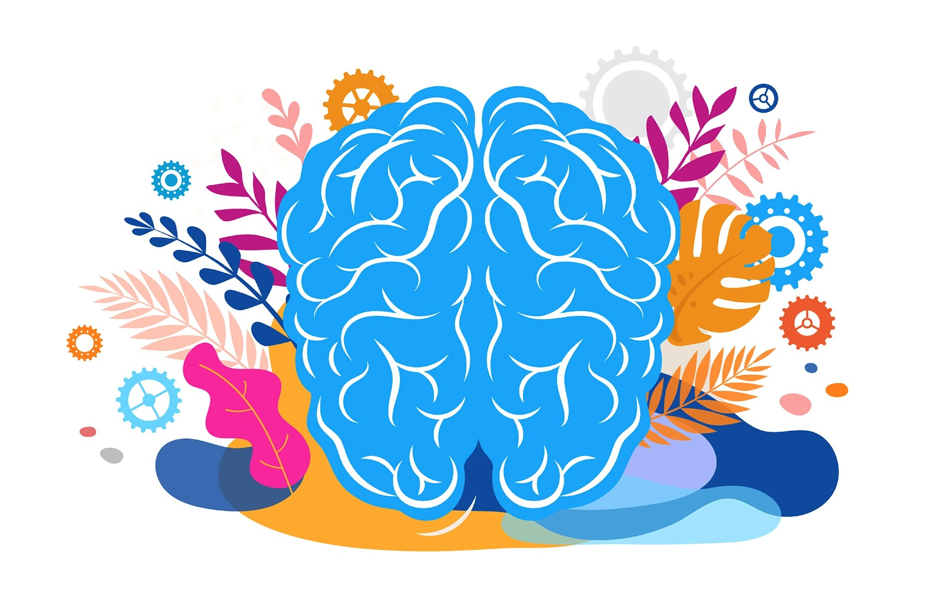 How Much Is Enough? Brain, mind and mindfulness concept illustration.