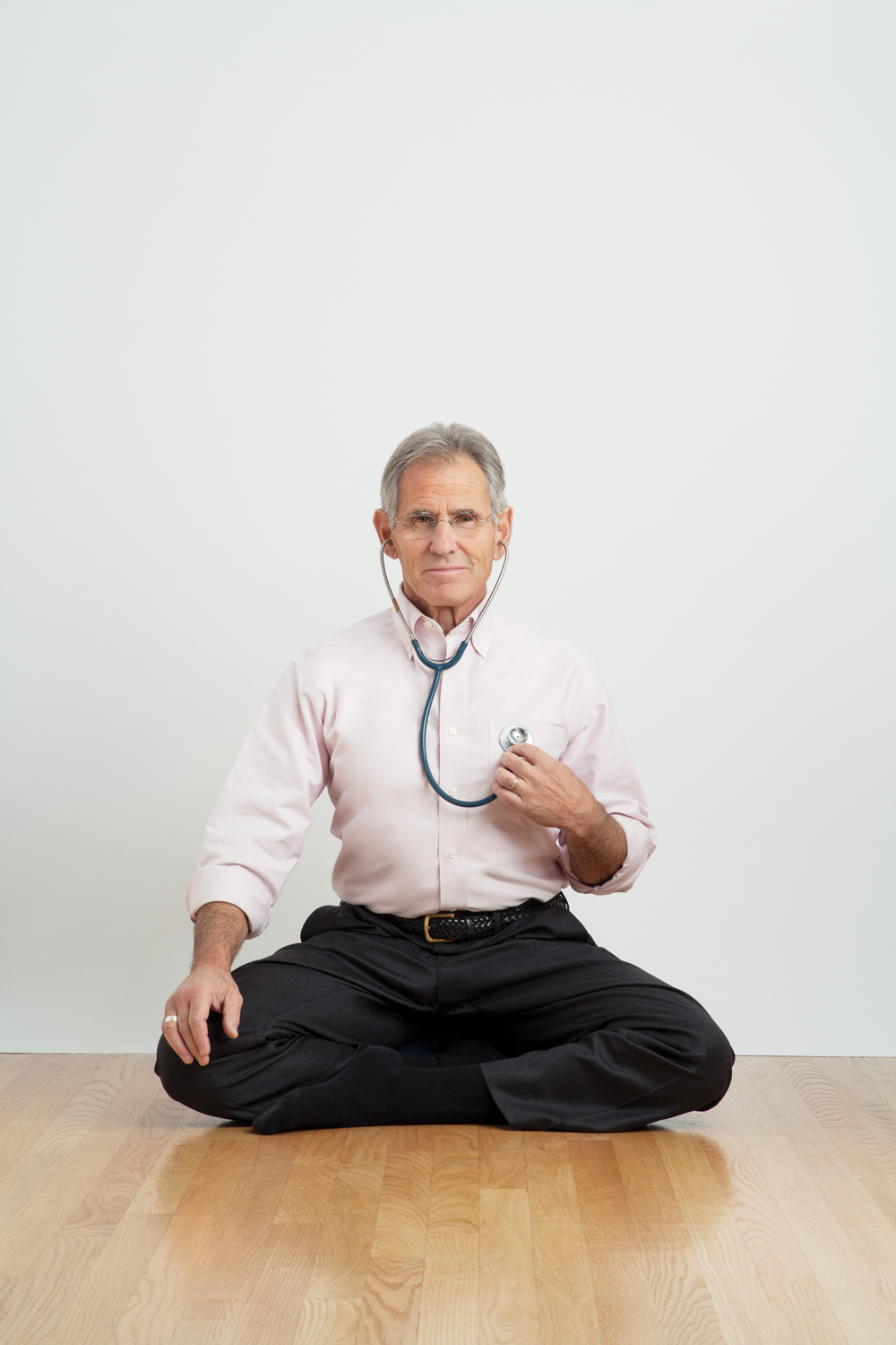 Jon Kabat-Zinn in seated meditation