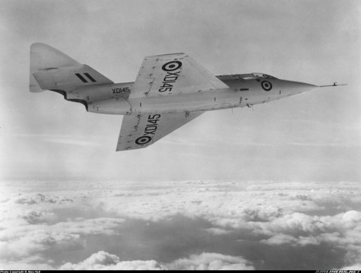 September 1954: Saunders Roe SR-53 in flight.