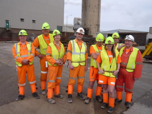 Boulby Potash Mine: The whole team.