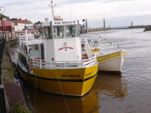 Boulby Mines: The famous yellow boats of Whitby. Different ones in 2016, but still yellow.