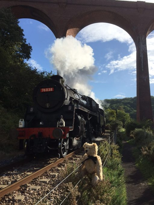 Joe's Story: Bertie Posing by the train.