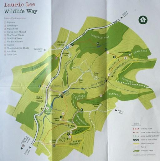 Laurie Lee - Wildlife Way Map