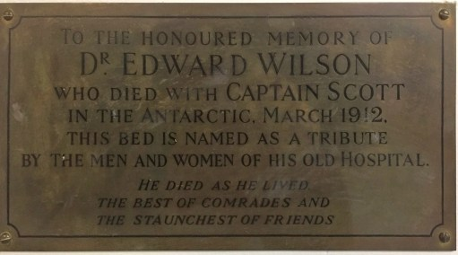 Plaque in St George's Hospital, Tooting