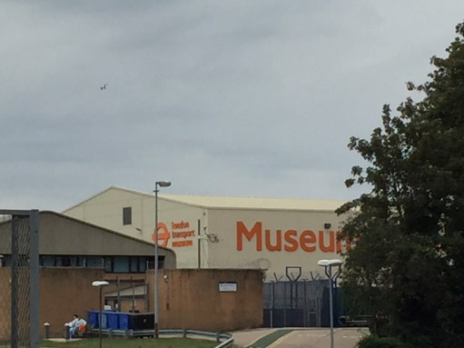 London Transport Museum: First sight of the museum on leaving Acton station. Not very exciting is it?