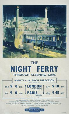 Paris: Night Ferry Poster.