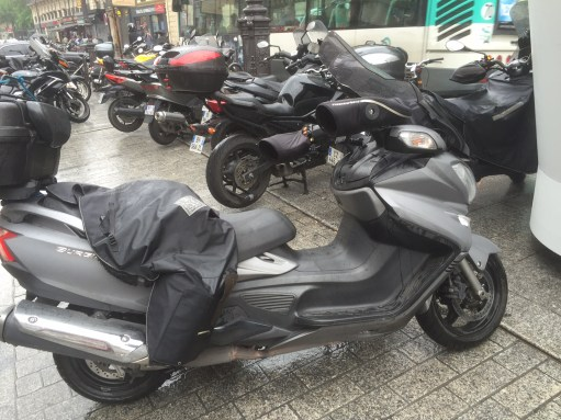 Paris: Motor cycle taxi. Don't think so!